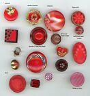 18 Antique / Vintage glass in shades of red.  3 paperweights