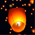 (20) White Paper Chinese Lanterns Sky Fly Candle Lamp for Wish Party Wedding