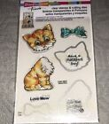 STAMPENDOUS Clear Rubber Stamp  Cutting Dies Pop Up Kitties 19 CSD01