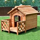 Dog House Pet House Wood Outdoor Indoor Use Log Cabin Pet House Shelter for Smal