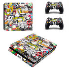 Stickerbomb Vinyl Decal Skin Stickers for Sony PS4 Slim Console