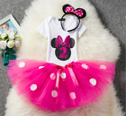 Baby Minnie Mouse Pink Girl 2nd Second Birthday Tutu Outfit Shirt Set O15