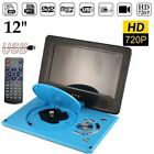 "12"" DVD EVD Player with HD Screen & TV Player Card Reader & USB Game 9030 M2 GF"