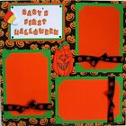 BABYS FIRST HALLOWEEN 3 D ONE 12X12 Premade Scrapbook Page