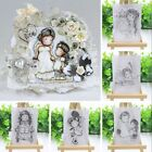 Album Decorative Silicone Rubber Scrapbooking Lovely Girl Transparent Stamp