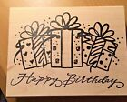 Crafting Mounted Rubber Stamp Happy Birthday Design
