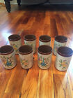Set of 8 Vintage Juice Glasses - Pottery-style - Excellent Condition