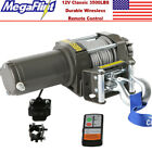 Classic 3500lbs 12V Electric Recovery Winch Truck SUV ATV Durable Remote Control