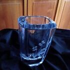 Vintage Scandinavian Art Glass ice blue lead crystal Strombergshyttan vase