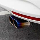Bent Dual Square Stainless Steel Exhaust Muffler Tip Car Tail Pipe Cover 60mm 1x