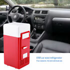 Portable Mini USB Car Fridge Freezer Refrigerator Cans Drink Cooler Warmer Red