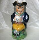 c 1880s Antique TOBY JUG English STAFFORDSHIRE Soft Paste Pearlware Pitcher