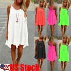 Womens Bikini Cover Up Beachwear Boho Swimwear Dress Ladies Swing Sun Dress USA