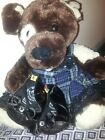 Build A Bear Dog Brown PUP Puppy 14 Seated Comes with shoes and dress