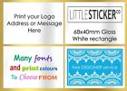 Fast custom stickers personalised postage label WHITE LARGE rectangle labels 100