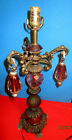 Rare Vintage Accurated 44181 C -19 Cast Iron  table  Lamp patina cut cub.