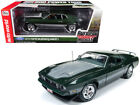 1973 FORD MUSTANG MACH 1 DARK GREEN STRIPES Hot Rod 1002 pcs 118 by AUTOWORLD