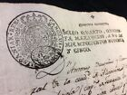 CHARLES IV OF SPAIN ROYAL SEAL DOCUMENT 1795