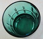 1 one Anchor Hocking Tartan DARK GREEN juice cocktail rock drink glass vtg retro