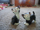 VINTAGE TUXEDO CATS SALT AND PEPPER SET ADORABLE CORK STOPPERS