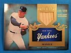 MICKEY MANTLE 2011 TOPPS TIER ONE CARD #36 YANKEES GAME-USED BAT RELIC SP# 399