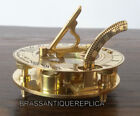 collectible Maritime Solid Brass Sundial Compass Pocket Compass Nautical Decor