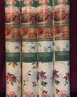 4 NEW Rolls Contact Quick Self Adhesive Covering Shelf Liner Fruit/Vine 60 sq ft