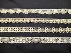 Lot Vintage Lace  Cluny Schiffli 4 designs All cotton 10-1/2 yards total
