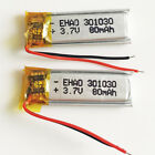 2x 3.7V 80mAh 301030 Lipo Polymer rechargeable Battery For Mp3 Bluetooth headset