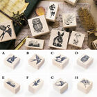 Lovely Animal Plant Wooden Rubber Stamp Scrapbooking Stationery Craft Stamp