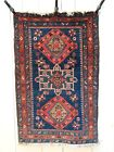 Fantastic RARE Antique Pre-1900 Blue Persian Heriz Serapi Rug #2 of a pair NICE!