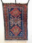 Fantastic RARE Antique Pre-1900 Blue Persian Heriz Serapi Rug #1 of a pair NICE!