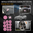 For Bmw All Emblem Overlay Sticker Decal Complete Set - Premium 4d Carbon Fiber