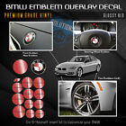 Emblem Sticker Decal Hood Trunk Wheels Steering Fits All Bmw Matte Solid Gloss