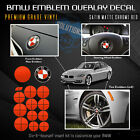 For Bmw Emblem Sticker Decal Hood Trunk Steering Complete Set Satin Matte Chrome