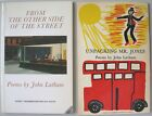FIRST POEMS BY JOHN LATHAM PUBLISHED BY PETERLOO POETS BOTH INSCRIBED AND SIGNED