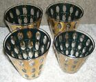 Four Lowball Tumblers Culver