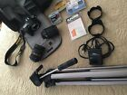 Nikon D7000 162MP DSLR Camera Black w two lenses  accessories EXCELLENT
