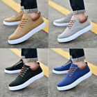Mens Low Top Sports Shoes Breathable Casual Lace Up Flats Sneakers Athletic New