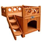 Confidence Pet Wooden Dog House Kennel with Balcony