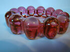 Boopie Bubble Ball Rose Cranberry Anchor Hocking Nova glass ashtray trinket 5