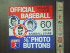 NOS Ad Card from a Gumball machine 1968 Baseball MLB butons ad Card