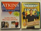 Lot of 2 DVDs ATKINS Complete and BIGGEST LOSER Cardio Max Weight Loss AB35