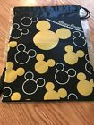 Disney Mickey Mouse Cinch Back Bsckpack Black Gold Silver