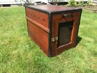 Antique Dog Show Hunting Box Crate Vintage End Table WOW!