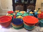 VINTAGE FIESTAWARE TEA CUPS AND SAUCERS-PRICE REDUCTION!!