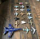 Lot of 21 Used Toy Metal Die cast Airplanes US Military Jets Planes Helicopter