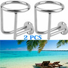 2X Boat Ring Cup Holder Stainless Steel Ringlike Drink Holder For Marine Yacht