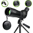 20 60x60mm Zoom Angled Spotting Scope Monocular Telescope with Tripod Soft Case