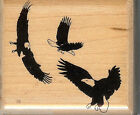 Mostly Animals Rubber Stamp 644 S4 Eagles in Flight S14